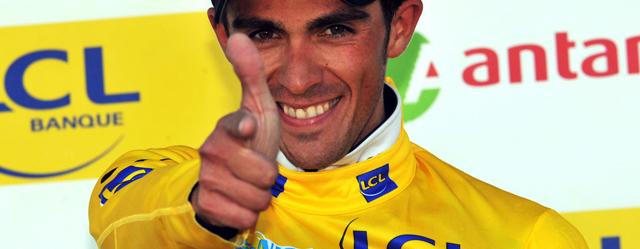 Para Contador, la batalla, mejor sobre ruedas (AGENCIAS)